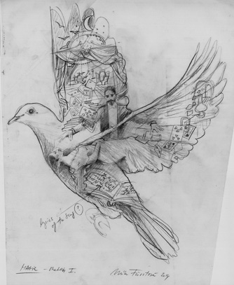 coldplay sketches mila fürstová etching
